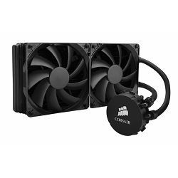 Corsair Hydro Series H110, liquid CPU cooling, 280mm top-mounted radiator (aluminium). Cooper base,