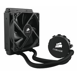 Corsair Hydro Series H55, liquid CPU cooling. Copper Micro Fin base, 1x 120mm fan (1700rpm), Noise: