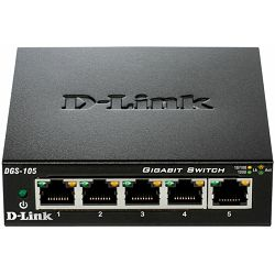 D-Link DGS-105/E, 5-Port gigabit switch, metalno kućište