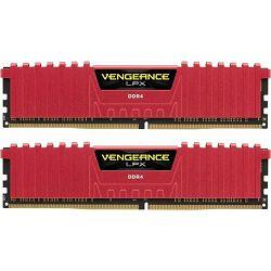 DDR4 16GB (2x8) Corsair 2400MHz LPX Red, CMK16GX4M2A2400C14R