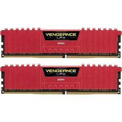 DDR4 16GB (2x8) Corsair 3200MHz LPX Red, CMK16GX4M2B3200C16R