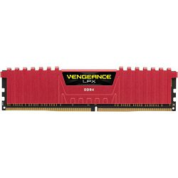 DDR4 4GB (1x4) Corsair 2400MHz LPX CL14 Red, CMK4GX4M1A2400C14R