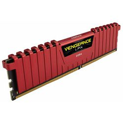 DDR4 8GB (1x8) Corsair 2400MHz C14 Red, CMK8GX4M1A2400C14R