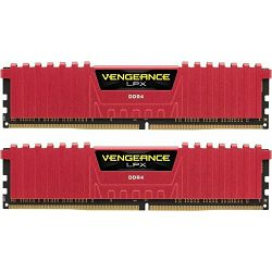 DDR4 8GB (2x4GB) PC4-19200U 2400MHz CL14 Corsair Vengeance LPX red, CMK8GX4M2A2400C14R