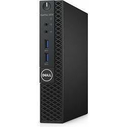 Dell Optiplex 3050 Micro, Intel G4560T, 2.90 GHz, 4 GB, DDR4, 2400 MHz, Intel HD, HDD 500GB, tipkovnica, miš, Windows 10 Pro, Jamstvo 3 godine