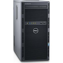 DELL Poweredge T130 MT E3-1230 v6 3.5GHz, 8GB DDR4 ECC 2400MHz (4 slota, max 64GB), 1x2TB SATA 7200 rpm NLSAS, PERC H330 RAID HW, GPU Matrox, DVD, 3 godine