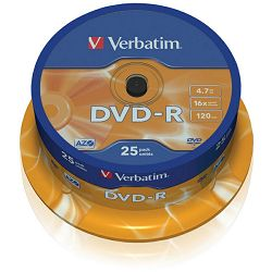DVD-R medij Verbatim 16x 25kom 43522, 43830