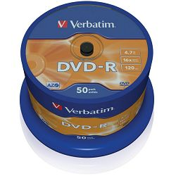 DVD-R medij Verbatim 16x 50kom 43548