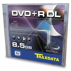 Medij DVD+R DL 8.5GB, 8x, TRAXDATA, dual layer, 1 komad, 906344ATRA013