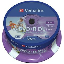 DVD+R DL medij Verb. 25 print 43667