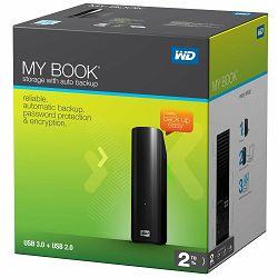eHDD 2TB WD My Book, USB 3.0, WDBFJK0020HBK