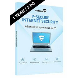 F-SECURE Internet Security -  1year 3 PCs- elektronska licenca