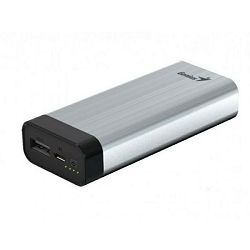Genius ECO-u527, Power Bank, 5200mAh, srebrni, Ulaz: Micro USB, 5V / 1000mA (max), Izlaz: USB, 5V /
