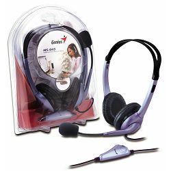 Genius Head Set 04S, slušalice+mikrofon, Frekventni odaziv: 50 Hz - 20 kHz Impedancija: 2.2K Ohm