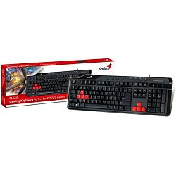 Genius KB-G235, Gaming keyboard for FPS/STG on-line games, USB,  Hot Keys 8, Water resistant