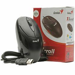 Genius Xscroll optički miš, crni, USB, 400 tpi