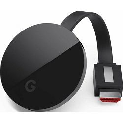 Google Chromecast Ultra, HDMI out, WLAN 802.11a/​b/​g/​n/​ac, up to 4k resolution, GA3A00406A07
