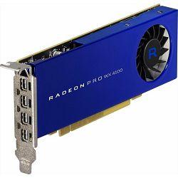 Grafička kartica AMD Radeon Pro WX 4100, 4GB GDDR5, 1201/1250MHz, 4x mDP, 100-506008