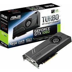 Grafička kartica Asus GTX1060 Turbo, 6GB GDDR5, 192-bit, 1708/2000MHz, 90YV09R0-M0NA00