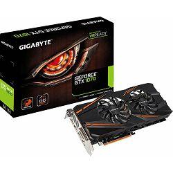 Grafička kartica Gigabyte GTX1070 WF2, GV-N1070WF2OC-8GD, 8 GB DDR5, 256-bit, 1771/8008 MHz