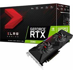 Grafička kartica PNY RTX2080 XLR8 Gaming OC Twin Fan, 8GB GDDR6, 1710/1750MHz, USB-C, VCG20808DFPPB-O