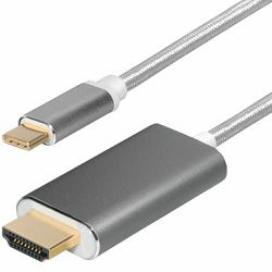 Kabel USB type C to HDMI 2m Transmedia, TRN-C521-2