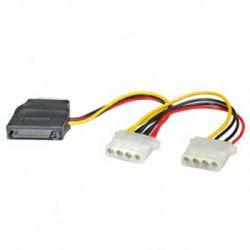 Kabel interni Y-naponski kabel, SATA na 3×4-pin, Roline