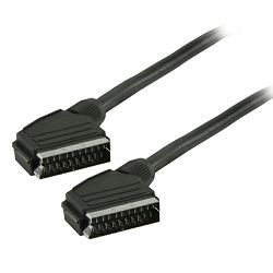 Kabel scart 1.5m, Transmedia VC 3 DIL •  type-U • 21pin connected • audio: 4 x 0,08 sq.mm. • stereo