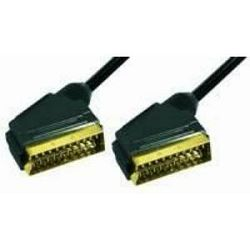 Kabel scart 2m gold, Transmedia VC 3-2 HG •  type U • vrhunske kvalitete gold plated contacts • 21p