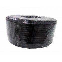Kabel telefonski 100m kolut, 4 žile 4 x 7 x 0,16 mm plosnati crni