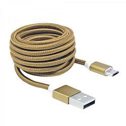 Kabel USB Micro M/M 1.5m gold Sbox