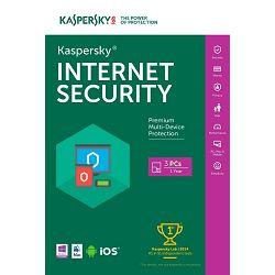 Kaspersky Internet Security 2016 3D+1 gratis retail