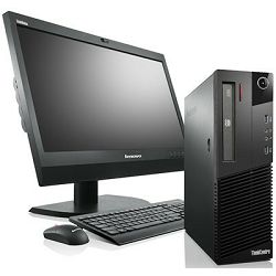 Komplet Lenovo ThinkCentre M75e SFF, Athlon II X2 220 2.80GHz, 4GB DDR3, 160GB HDD, Win 7 Pro COA + monitor 17
