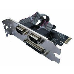 Kontroler Asonic paralel+serial, PCI-Express x1, N-PE-1P2S, 2xserial port i 1xparalel port
