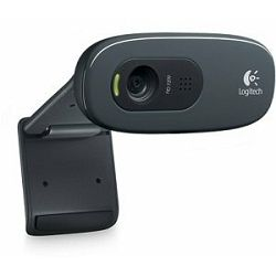 Logitech HD C270, silver/black, HD Webcam, 960-000635
