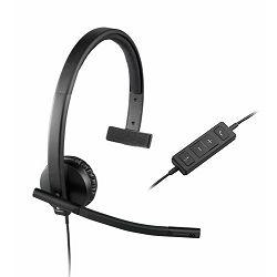 Logitech headset H570e Mono USB, 981-000571