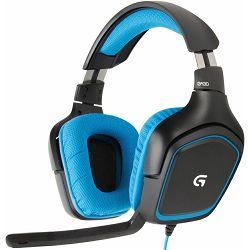 Rabljeno - Logitech PC Headset Gaming G430,  Tip: Pressure Gradient Electret Condenser, Frekvencijski odziv: 5