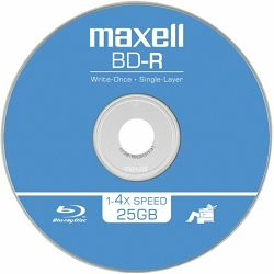 Medij BD-R 25GB, 4x, Maxell, 1 kom