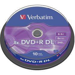 DVD+R DL medij Verbatim 8x 10 k43666
