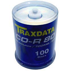 CD medij Traxdata 52x logo 100