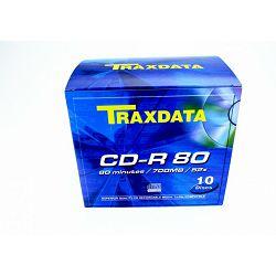 Medij CD Traxdata, 52x, 10 kom fatbox, 020460