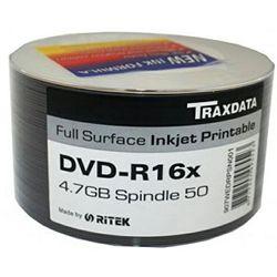 DVD-R medij Traxdata 16x 50 kom print