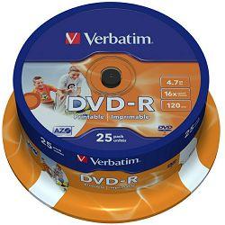 DVD-R medij Verbatim 25 kom prt43538