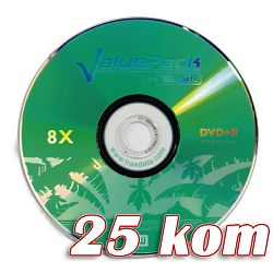 Medij DVD-R 4.7GB, 8x, TRAXDATA, Value pack, 25 kom