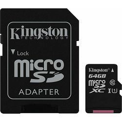 SD micro 64GB Kingston cl10 SDC10G2/64GB