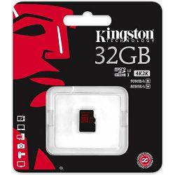 microSDHC 32GB Kingston, UHS-I U3/Class 10, SDCA3/32GBSP