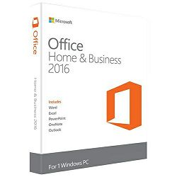 Microsoft Office Home and Business 2016 English Medialess za pravne osobe, T5D-02826. Office paket sadrži slijedeće