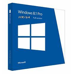 Microsoft Windows 8.1 Pro, 64bit, Croatian 1pk, DSP, OEI DVD, FQC-06957