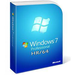 Microsoft Windows Pro 7, 64bit, Croatian 1pk, DSP, DVD SP1