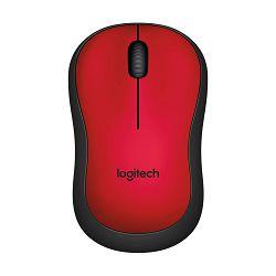 Logitech M220 Silent Red bežični miš